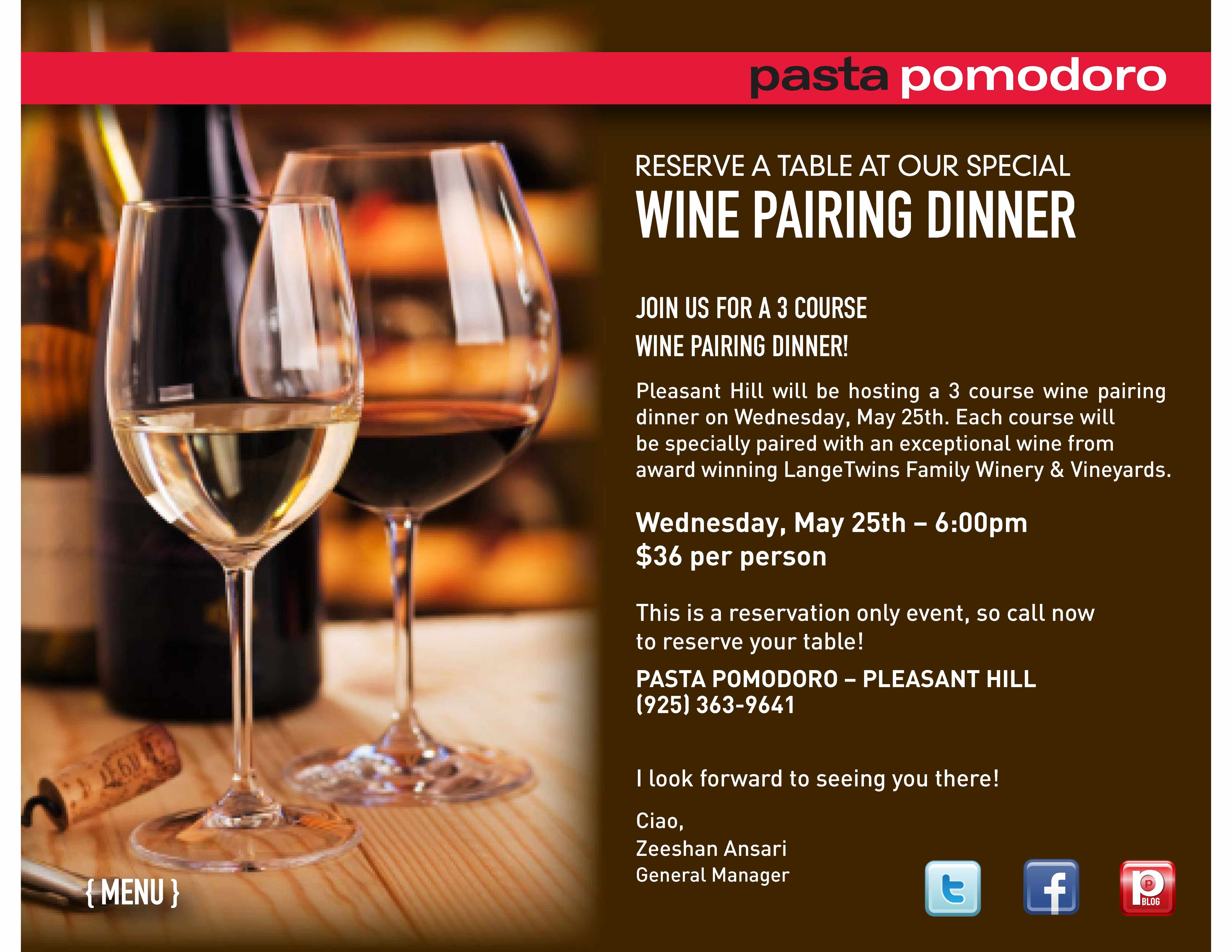 Join us in Pleasant Hill this Wednesday for our next wine ...